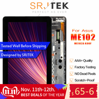 Stjtek For Asus MeMO Pad 10 ME102 ME102A K00F MCF 101 0990 01 FPC V4.0 LCD Display Digitizer Touch Screen Assembly With Frame