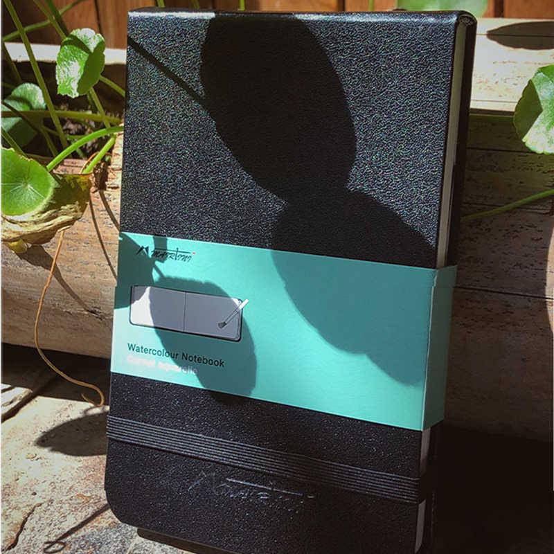 Couro livro aquarela 300g papel de aguarela A6 Mairtini livro mão-pintada à mão esboço pintura materiais de Arte de viagem portátil