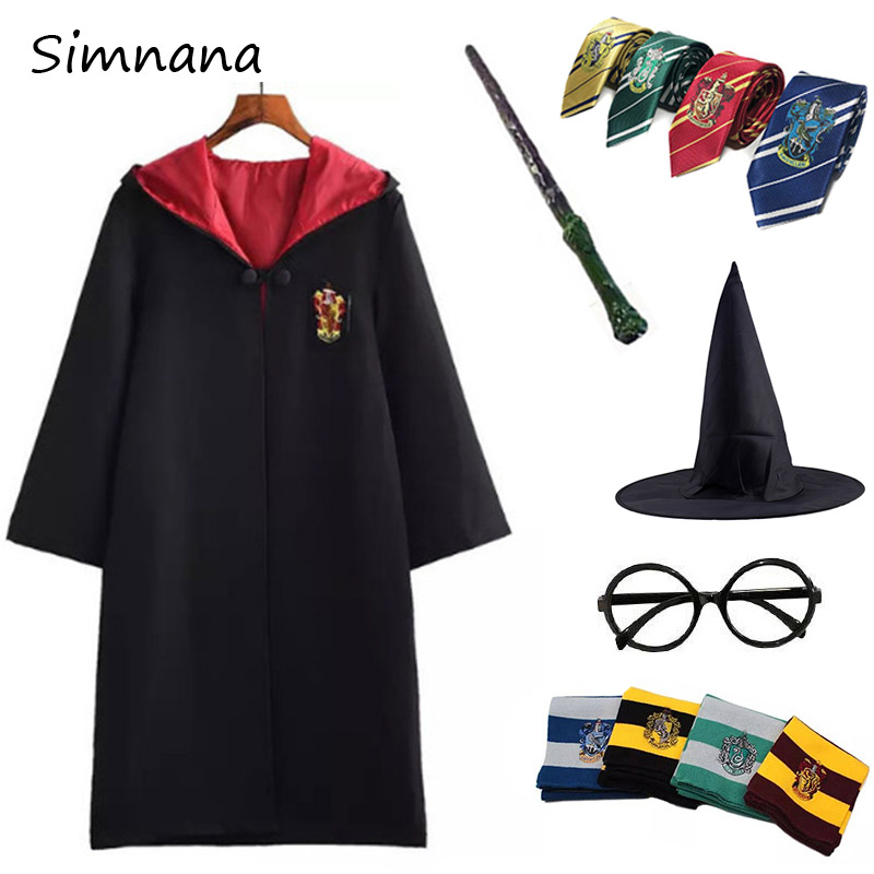 Cosplay Gryffindor Costume Potter Hermione School Uniform Ravenclaw Hufflepuff Slytherin Potter Robe Cape Halloween Costumes