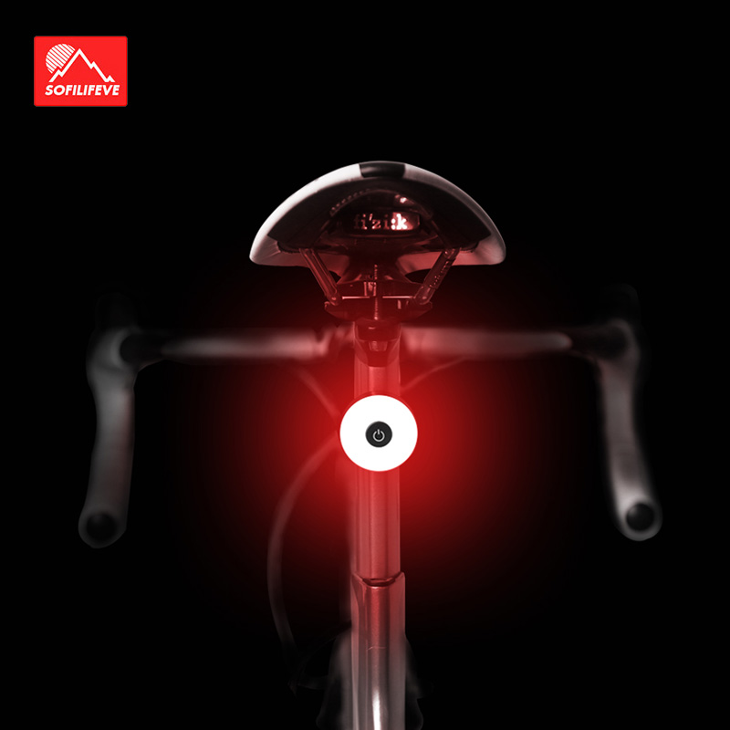 Bicycle Rear Light USB Rechargeable IPX8 Waterproof Bike Light For MTB Helmet