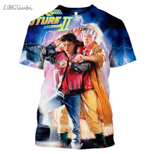 LBG New 3D Print back to the future T-shirt, Fashion Men and Women Short Sleeve Harajuku T-Shirt