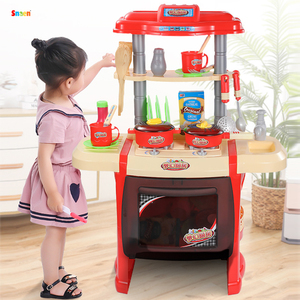 27PCS Big Size Children's Kitchen Toy Set Cooking Girl Pretend Play House Toy Baby 3-6 Years Old Best Birthday Gift