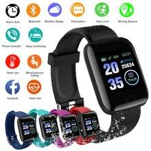 2020 חכם שעון גברים נשים שעון חכם אנדרואיד iOS כושר Tracker דם קצב לב עם סיליקון רצועת ספורט ילדים מתנה שעונים