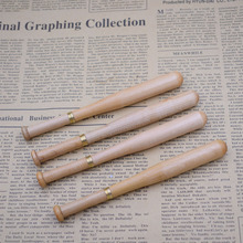 (12 Pieces/Lot) Wood Pen Wholesale Baseball Shape Wooden Ballpoint Pens Promotional Writing Tools Joy Corner