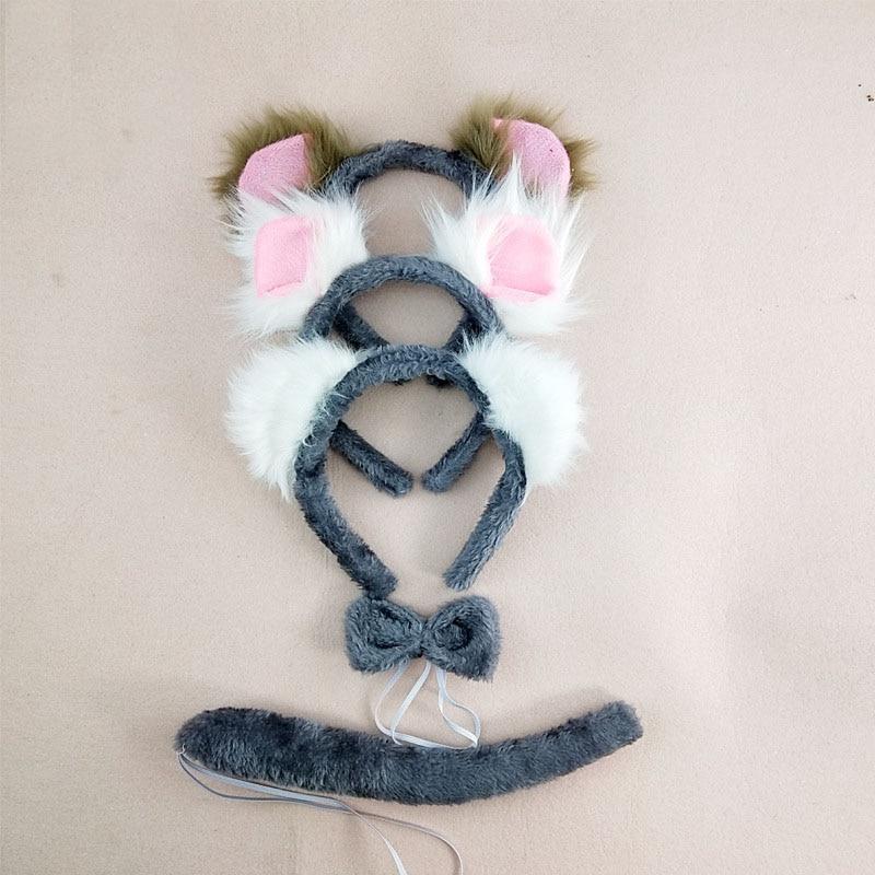 Costumes Accessory For Girls Cute Party Fancy Dress Koala Bear Cosplay Ear Headband Bow Tie Tail Masquerade Supplies