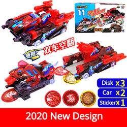 Novo design mega conjunto screechers nível selvagem 3 veículo 2 carro + 3 captura moeda 360 girar deformação brinquedo original presente para a criança