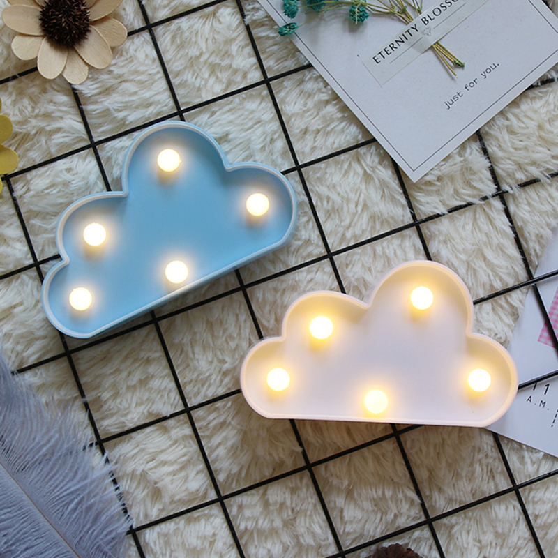 Cartoon Night Lights Cloud/Star/Shell/Heart LED Table Lamp For Children's Bedroom Decoration