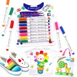 8 Pcs/Set Clothes Textile Marker Fabric Paint Pen DIY Crafts T-shirt Pigment Painting Pen School Home Stationery Graffiti Supply