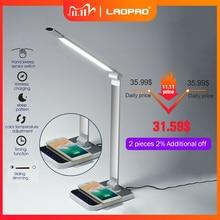 LED שולחן מנורת 72 הנורה 3 צבע יד לטאטא אלחוטי טעינה עבור טלפון 360 תואר סיבוב מגע להגן עם טיימר שולחן מנורה