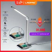 Lampe de bureau à 72 ampoules, avec minuterie, charge sans fil pour téléphone, 3 couleurs, Rotation à LED degrés, protection tactile, pour une Table de bureau, modèle de 360