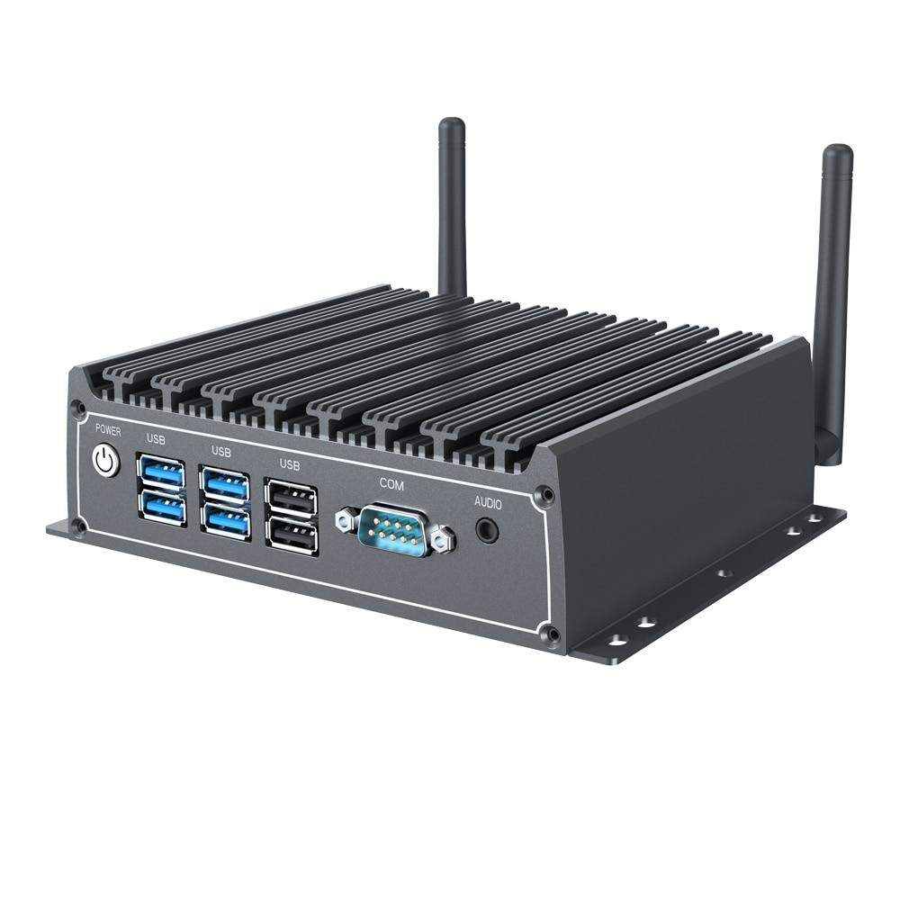 Мини-ПК chatreey X1, intel core i5 i7, безвентиляторный промышленный настольный компьютер, металлический чехол, windows 7/10, linux, тонкий клиент htpc