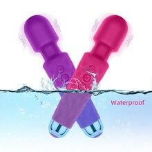 Drahtlose Dildos AV Vibrator Zauberstab für Frauen Klitoris Stimulator USB Aufladbare Massager Sex Spielzeug für Muscle Erwachsene