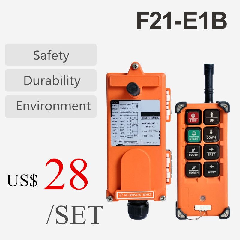 F21-E1B Industrial Radio Remote Controls f21 e1b AC 380V 220V 36V 12V For Crane 18-65V 65-440V