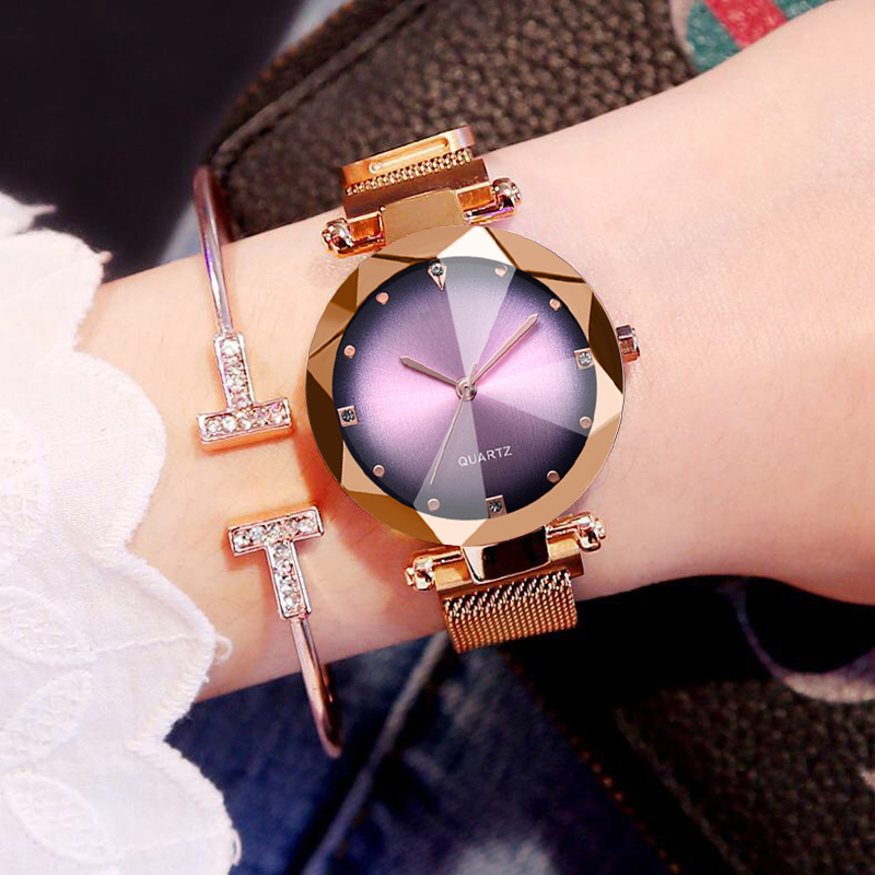 Luxury Magnet Buckle Quartz Watches Women High Quality Custom Made Women Watch Luxury Desgin Clock Drop Shipping