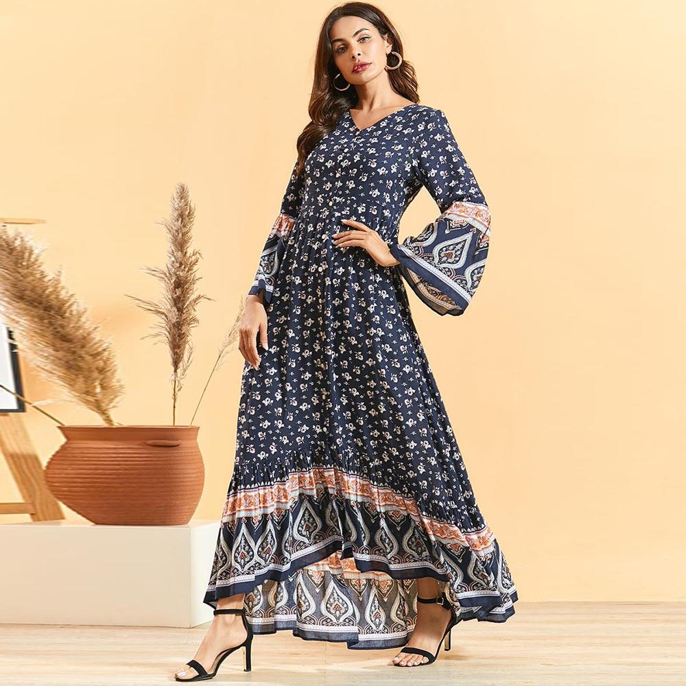 Arabic Abaya Kimono Turkey Hijab Muslim Maxi Dress Turkish Dresses Oman Islamic Clothing Abayas For Women Caftan Dubai Kaftan