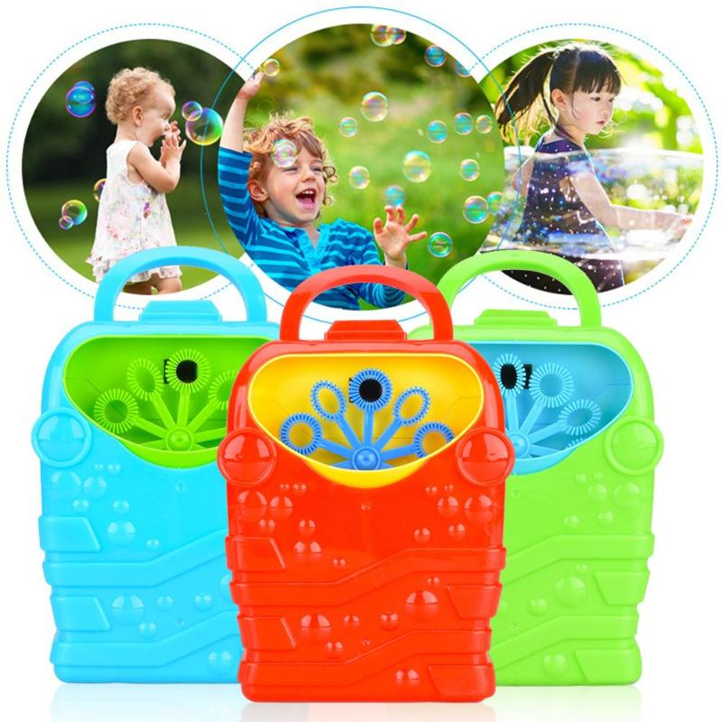 Creative Colorful Funny Electric Bubble Machine Toy Automatic Blower Bathtub Soap Outdoor Toys for Child