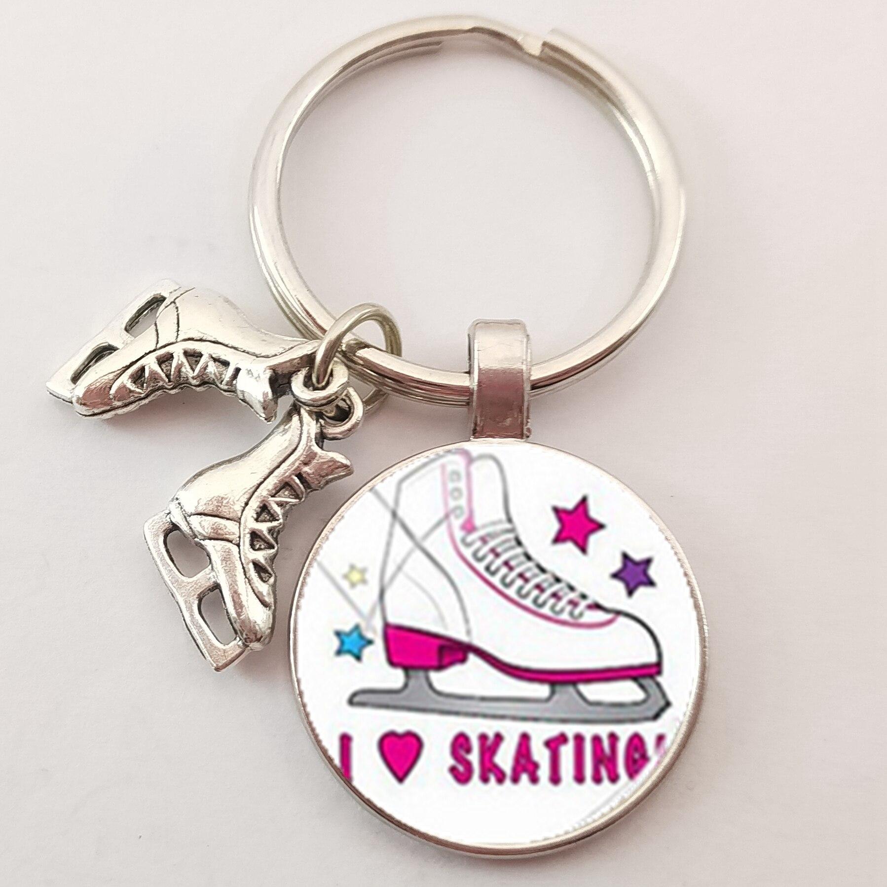 Pair of Roller Skate Boots Keyring Skating Souvenir Skates Gift Key Ring