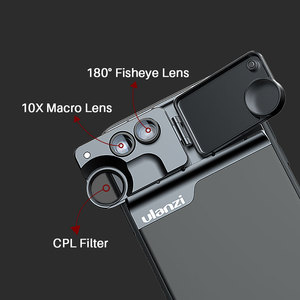 Image 5 - Ulanzi U Lens 5 in 1 telefon Lens çantası seti iPhone 11 Pro Max 20X süper makro Lens CPL balıkgözü telefoto Lens iPhone 11 Pro
