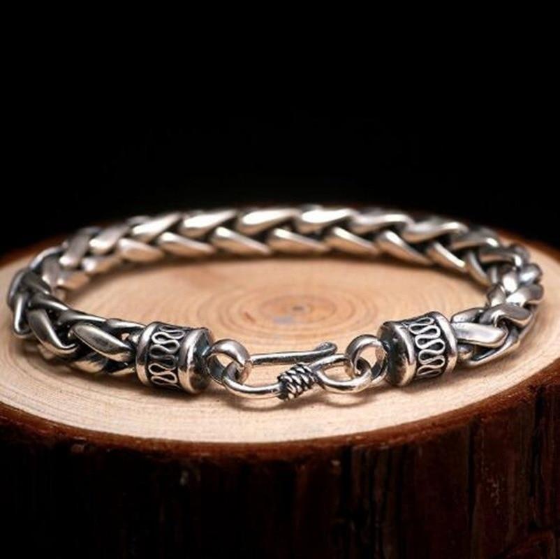 Модный очаровательный мужской высококачественный металлический Плетеный ретро браслет-цепочка для мотоцикла подарок лучший выбор