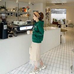 Vrouwen Hoodie Winter Groene Brief Gedrukt Hoodie Sweatshirt Vrouwen Warm Fluwelen Strass Hooded