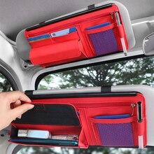 5ใน1รถ Sunshade เก็บรถ Sun Visor คลิปหนังจัดเก็บกล่องปากกาบัตรแว่นตากันแดดคลิปกระเป๋ารถอุปกรณ์เสริม