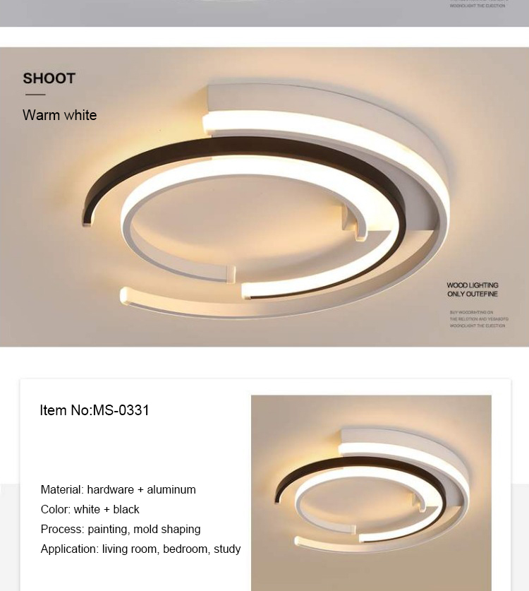 H5725b0fe51754c9cacc5990157a411efu LICAN Modern LED Ceiling Lights Living room Bedroom lustre de plafond moderne luminaire plafonnier White Black LED Ceiling Lamp