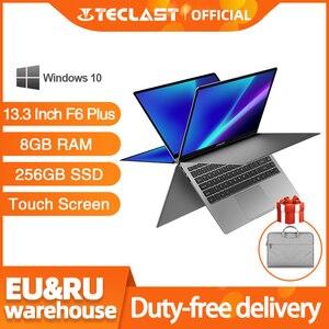 Teclast Notebook F6 Plus Laptop 13.3 Inch 8GB RAM 256GB ROM 360 Degree Rotation 1920×1080 Full HD Windows 10 OS 38000mWh Battery
