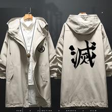 Anime demônio slayer kimetsu não yaiba tanjiro kamado cosplay traje blusão jaqueta casaco masculino traje de halloween para mulher cs043