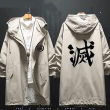 Disfraz de Cosplay de Demon Slayer Kimetsu No Yaiba, Tanjiro, Kamado, chaqueta cortavientos, abrigo, disfraz de Halloween, hombre, mujer, CS043
