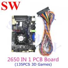 최신 3D PD 사가 게임 멀티 보드 게임 아케이드 콘솔 2650 in 1 마더 보드 VGA HDMI 출력 홈 버전 (135PCS 3D 게임)