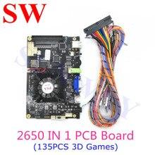 Yeni 3D PD SAGA oyun çoklu tahta oyunları Arcade konsolu 2650 1 anakart VGA HDMI çıkışı ev sürümü (135 adet 3D oyunlar)