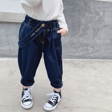 Girls Pants Jeans Clothing American Children's New Autumn Fashion And Y Feet Personality
