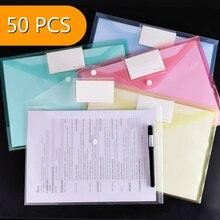 Storage-Folder Snap-Bag Transparent Office-Supplies Waterproof Plastic A4 Test-Paper