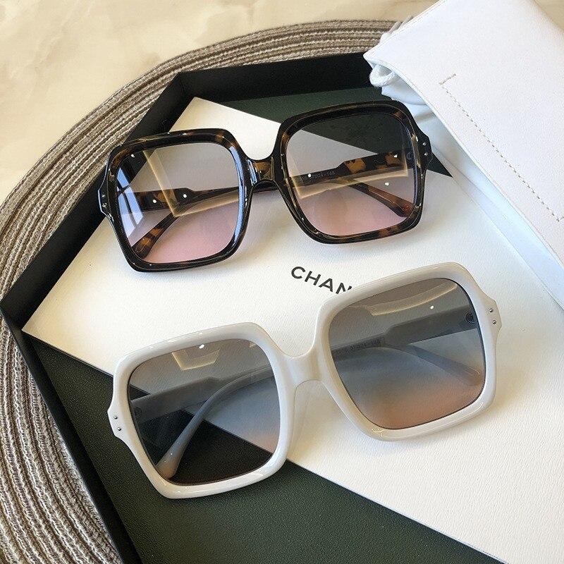 High Quality Brand Design Women Sunglasses Luxury Glasses Lady Square Sunglass Woman 2020 Gradient Pink Blue Lens Men Eyeglasses