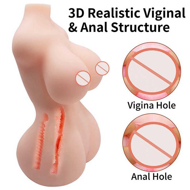 זכר אוננות מין בובה עם ציצים גדולים אנאלי התחת כוס 3D מציאותי סיליקון אהבת בובת עם 2 חורים קטנים זכר אוננות סקס