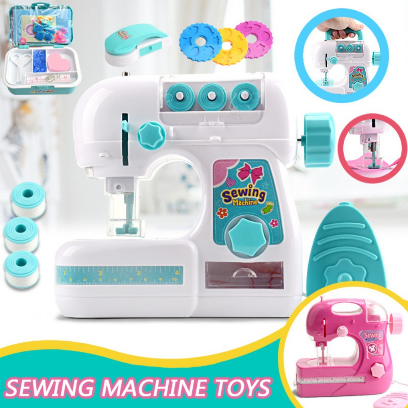 Electric Simulation Children\'s Sewing Machine Toy Mini Furniture Pretend Playing Educational Interesting Toy For Kids Girls