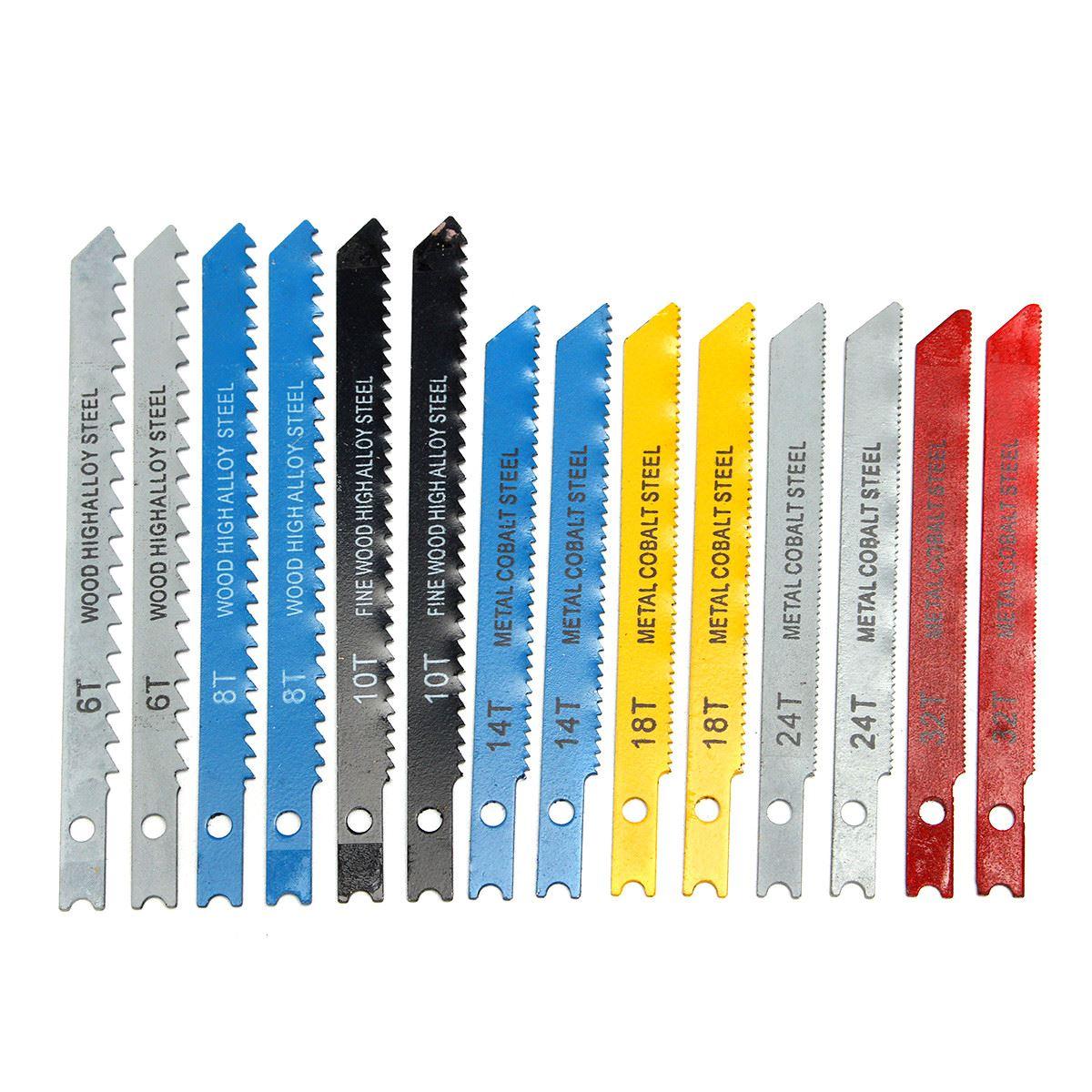14pcs U Fitting Jigsaw Blades Set Metal Plastic Wood Jig Saw Tool Wholesale Price
