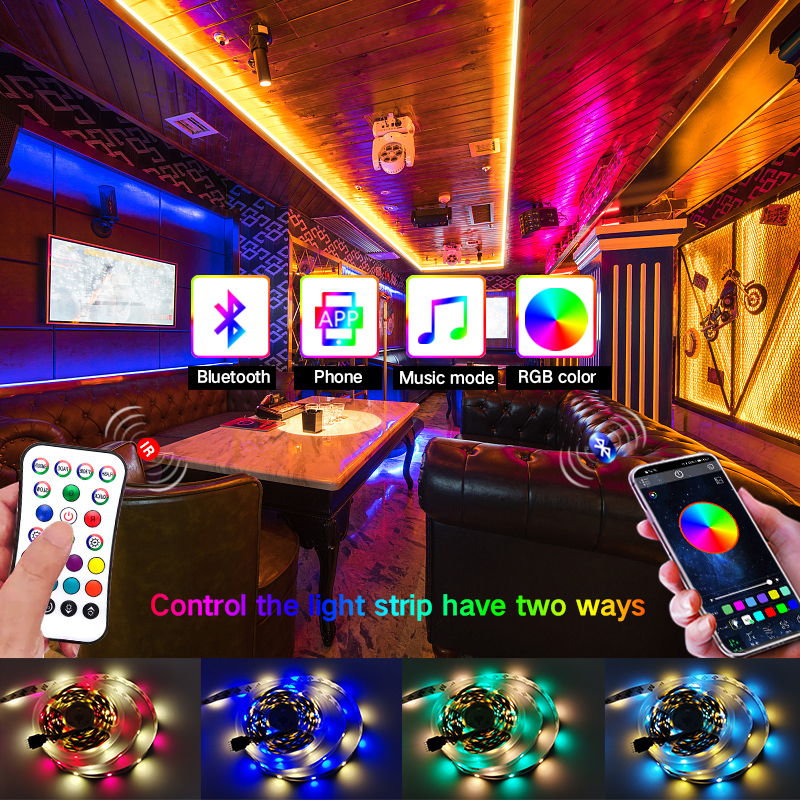 RGBWW Bluetooth LED Strip Light RGB 5050 5M-30M DC 12V LED strip Ribbon diode tape Bluetooth Controller power adapter for Home