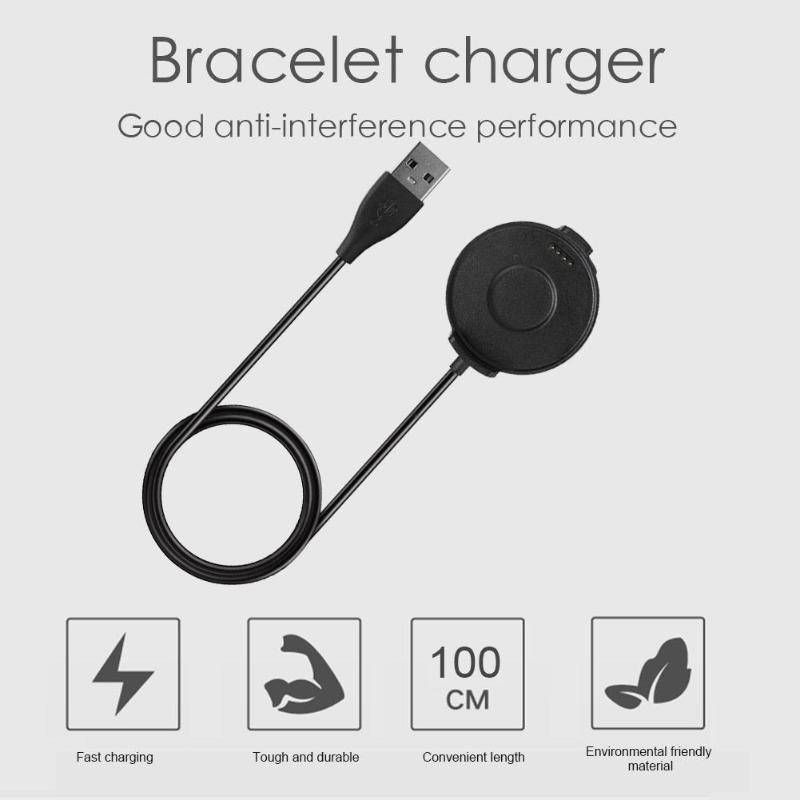 1m Magnetic USB Charging Cable Desktop Charger Dock Cradle For Ticwatch Pro