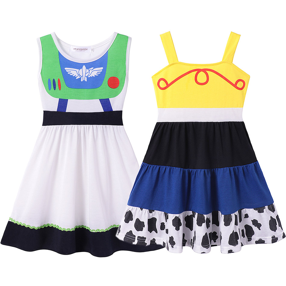 <font><b>Fancy</b></font> Cartoon Movie Toy Story Space Ranger Buzz Lightyear Jessie Cotton <font><b>Dress</b></font> for <font><b>Baby</b></font> Girls Minnie Party Elsa Vacation Clothes image