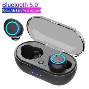 5,0 TWS Bluetooth-наушники с зарядным устройством; Беспроводные наушники; 9D стерео; Спортивные водонепроницаемые наушники; Гарнитура с микрофоном