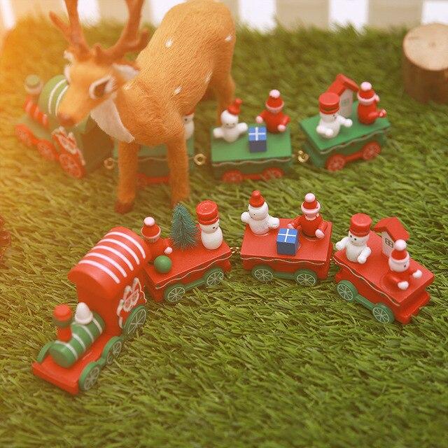 Luanqi noël cadeau jouets artisanat en bois noël Train ornement joyeux noël décor à la maison pour la maison père noël noël 2021 nouvel an