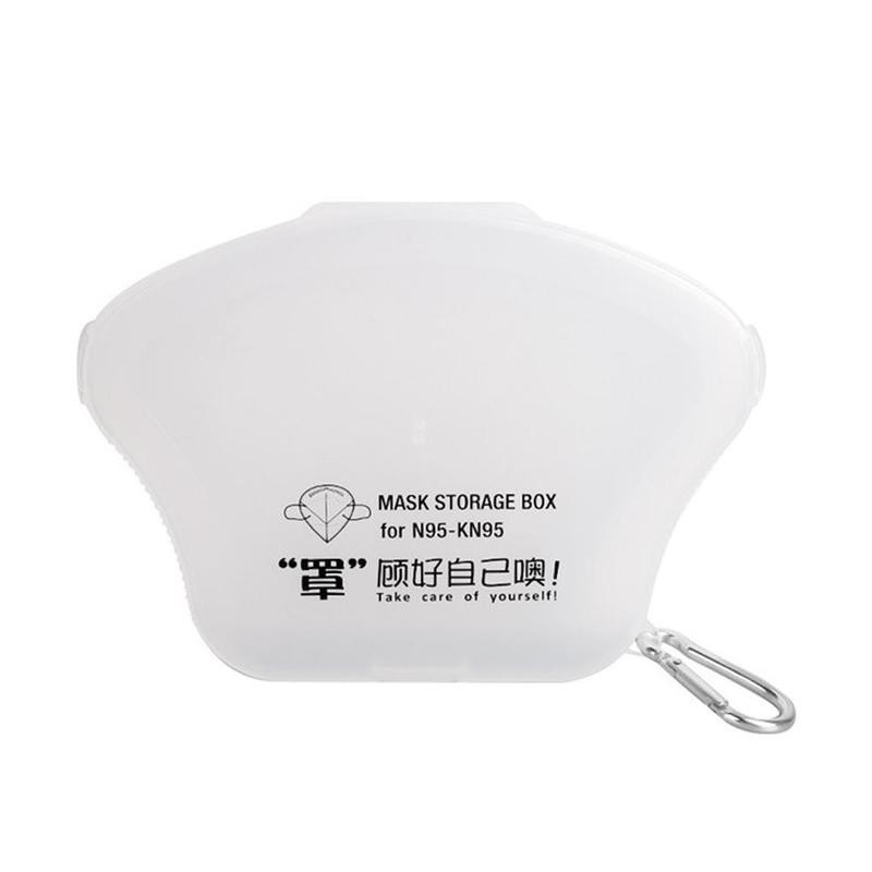 1pc Folding N95 Masks Box Holder Home/Office Portable Face Mask Storage Box Eco-Friendly Dustproof Plastic Sealing Mask Case(China)