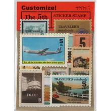 18 Pcs/bag DIY Vintage Retro Klasik Kertas London Travel Stamp Stiker untuk Dekorasi Diary Scrapbooking 918(China)