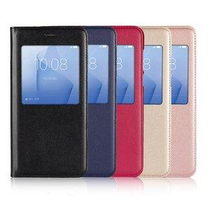 Чехол для Huawei Honor 8, умный чехол с окошком, кожаный флип-кейс, мобильный телефон, чехлы Etui Hoesje для Huawei Honor 8