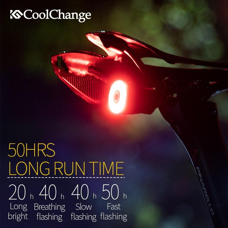 CoolChange Bicycle Smart Auto Brake Sensing Light IPx6 Waterproof LED Charging Cycling Taillight Bike Rear Light Accessories Q5 Pakistan