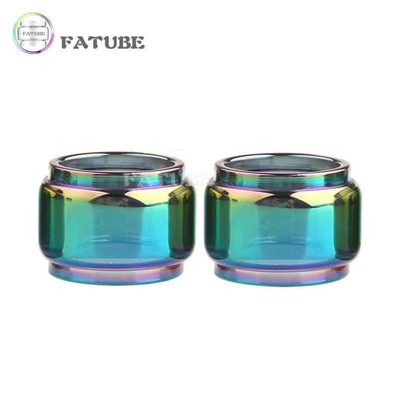 2pcs FATUBE Rainbow colour Bubble Glass TUBE for ZEUS X MESH/Zeus Dual RTA 4ml/ZEUS X 4.5ml/Zeus Sub Ohm Tank 5ml 6