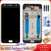Recambio LCD Original de 5,5 pulgadas para ASUS Zenfone 4 Selfie, pantalla LCD ZD553KL con pantalla táctil con ensamblaje de digitalizador de Marco
