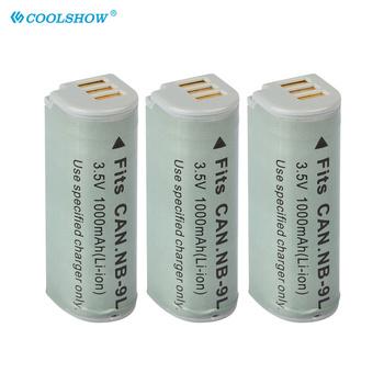 NB-9L NB 9L bateria aparatu 1000mAh dla Canon ELPH 510 520 530 HS PowerShot N SD4500 IS IXUS 1000 1100 500 510 HS IXY 1 3 50S tanie i dobre opinie COOLSHOW Kamera CN (pochodzenie) Standardowa bateria