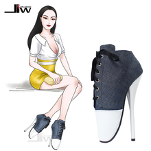 Wholesale  7 Spike High Heel Ballet Pump Free shipping